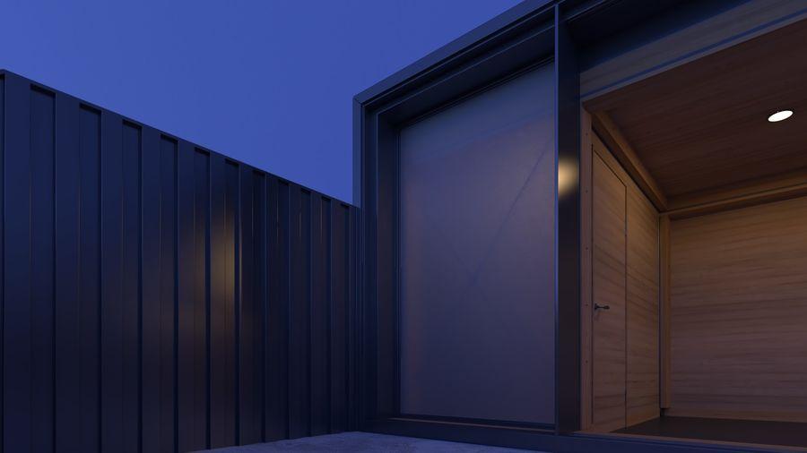Casa mínima do recipiente royalty-free 3d model - Preview no. 16