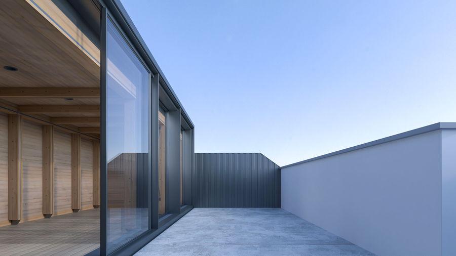 Casa mínima do recipiente royalty-free 3d model - Preview no. 11
