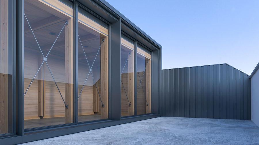Casa mínima do recipiente royalty-free 3d model - Preview no. 3