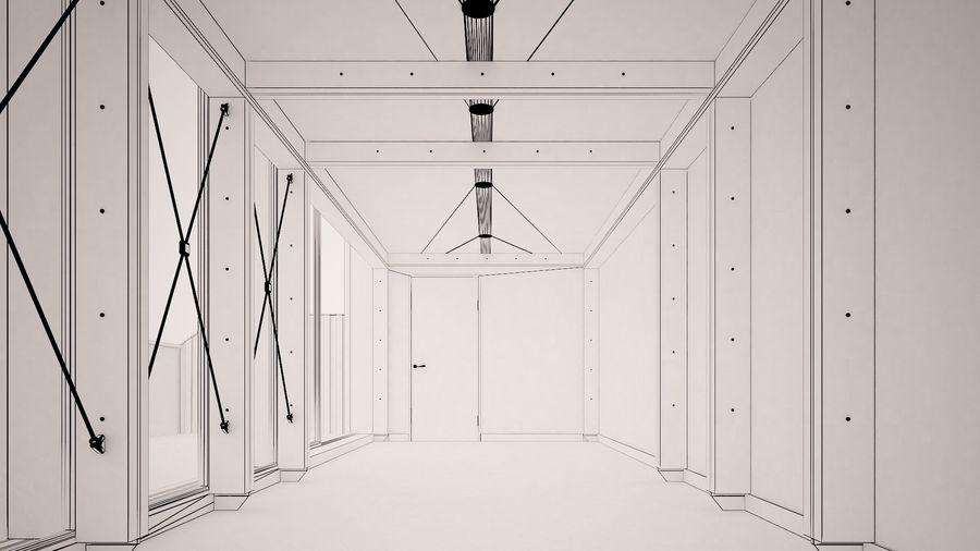 Casa mínima do recipiente royalty-free 3d model - Preview no. 20