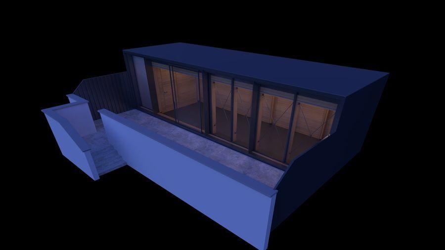 Casa mínima do recipiente royalty-free 3d model - Preview no. 17