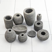 Stone dishes 3d model