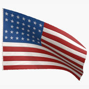 Amerikaanse vlag 33 sterren 1861 3d model
