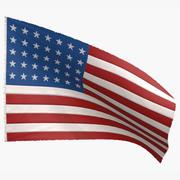 US Flag 35 Stars 1863-1865 3d model