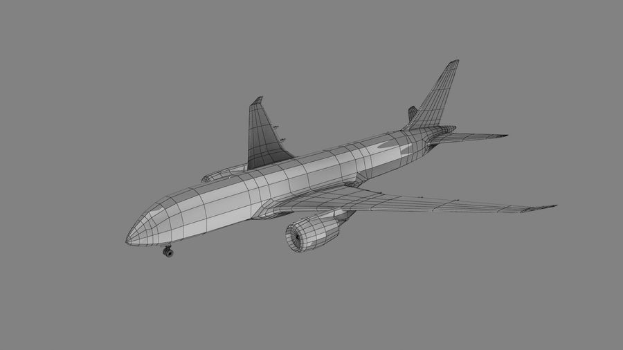 汉莎航空飞机 royalty-free 3d model - Preview no. 5