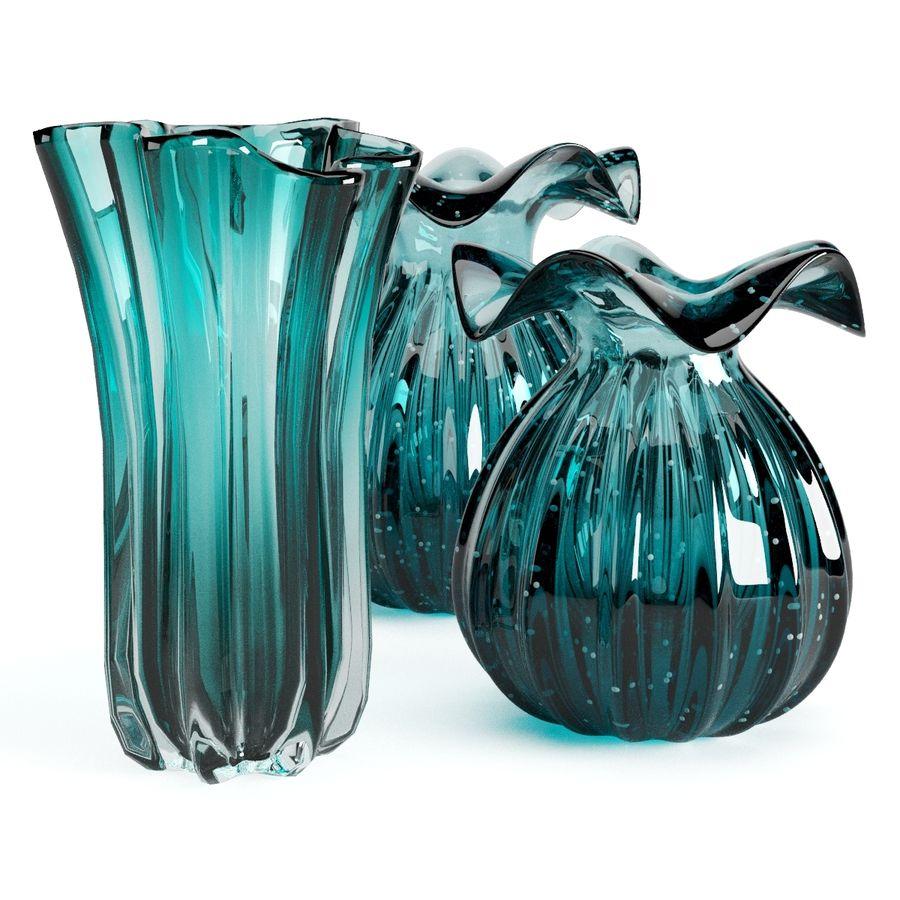 Eichholtz Vasen Set 1 royalty-free 3d model - Preview no. 12