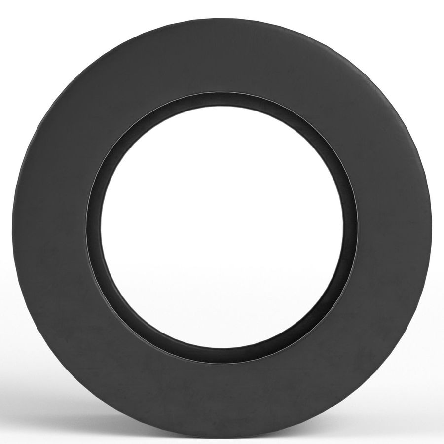 Generic car tire royalty-free 3d model - Preview no. 4