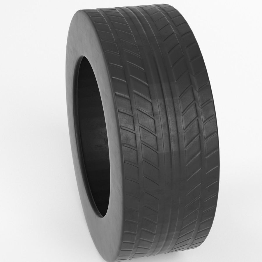 Generic car tire royalty-free 3d model - Preview no. 2