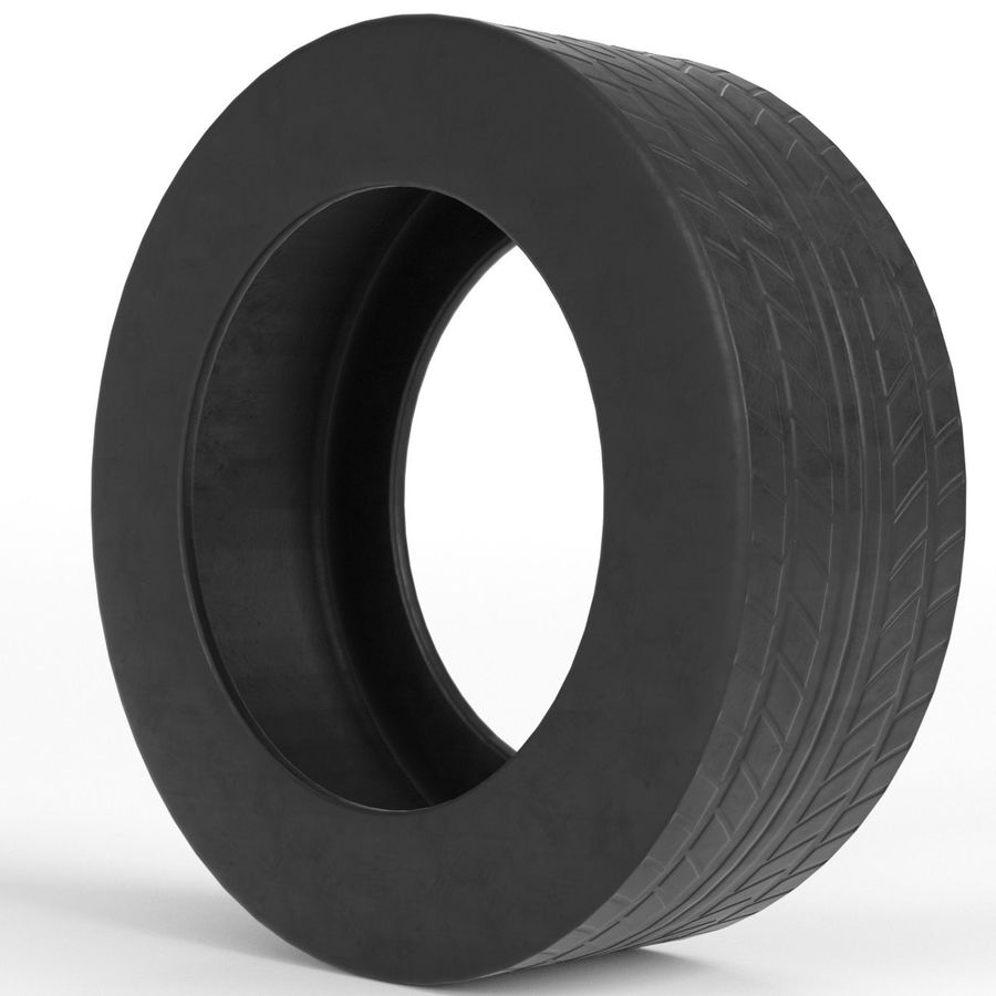 Generic car tire royalty-free 3d model - Preview no. 3