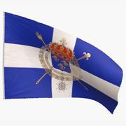 Flaga marynarki wojennej Królestwa Francji 1365-1792 3d model