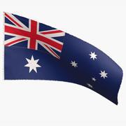 Bandeira da Austrália 3d model