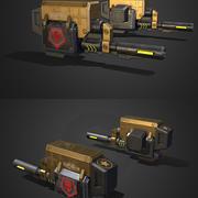 能量枪 3d model