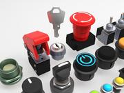 Emergency Buttons and Switches 3d model