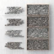 Panel rock decorativo n3 modelo 3d