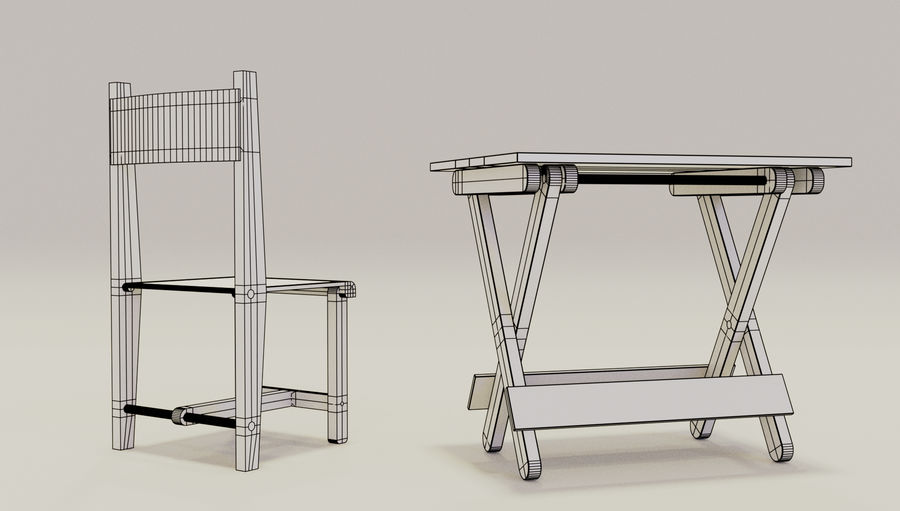 Folding Table royalty-free 3d model - Preview no. 7