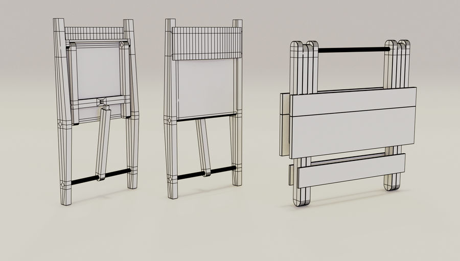 Folding Table royalty-free 3d model - Preview no. 8