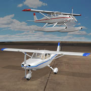 Licht vliegtuig 3d model