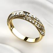 Yellow Gold Ring 3d model