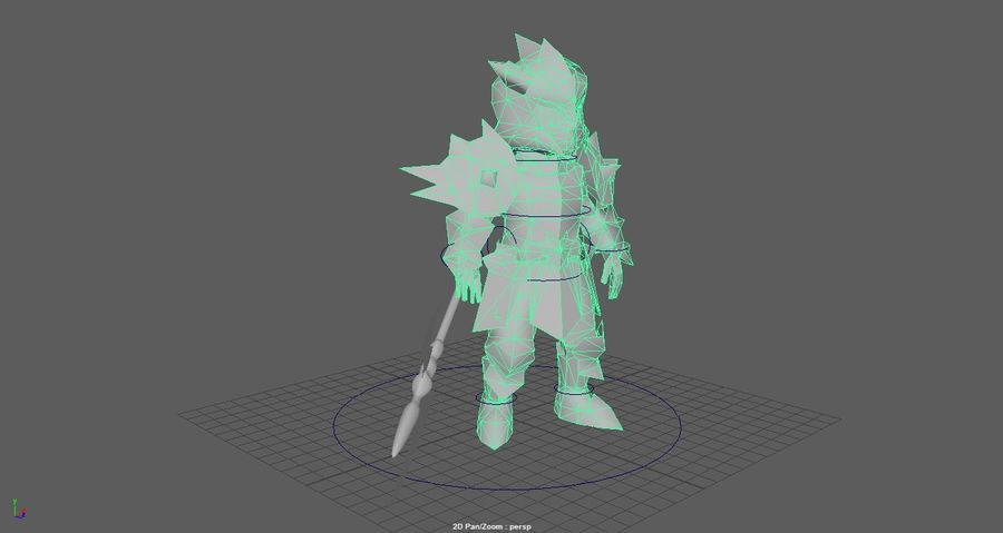 Knight royalty-free 3d model - Preview no. 2