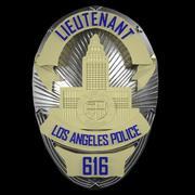 Crachá LAPD imprimível 3d model