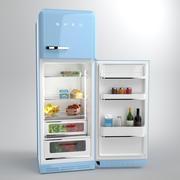 Smeg Fridge Blue 3d model