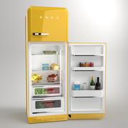 Smeg Fridge Yellow 3d model