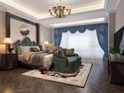 European Master Bedroom 3d model