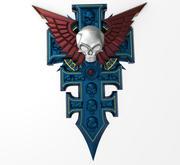 símbolo de poderes especiales de la Inquisición modelo 3d