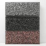 Gabion gros rocher pierre 3d model