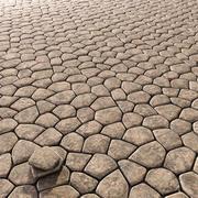 Argila de pavimentação antiga n1 3d model