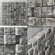Panel stone cube n5 3d model