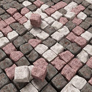 Pavé granit ébréché n1 3d model