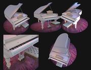 piano sur le tapis 3d model