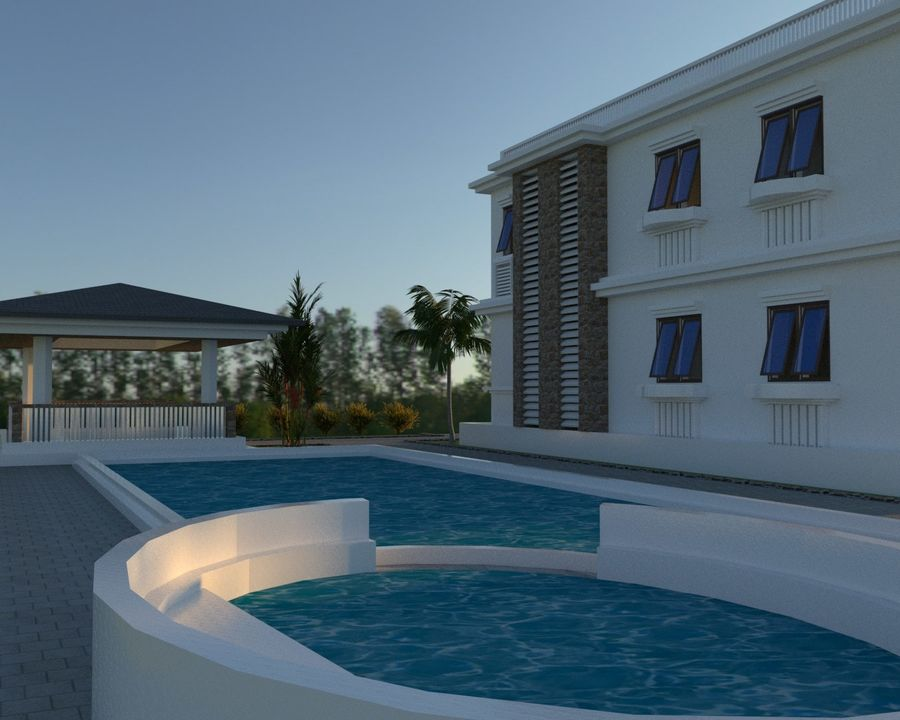 Classic House Exterior Design Sketchup royalty-free 3d model - Preview no. 5