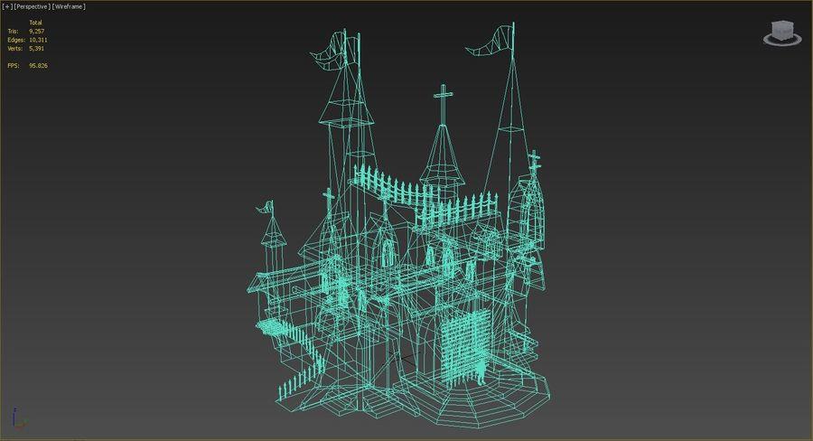 Fantasy Castle royalty-free 3d model - Preview no. 2