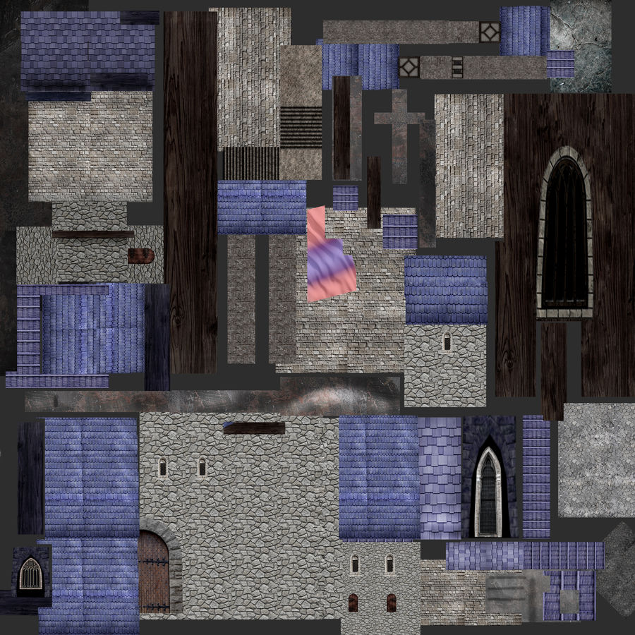 Fantasy Castle royalty-free 3d model - Preview no. 5
