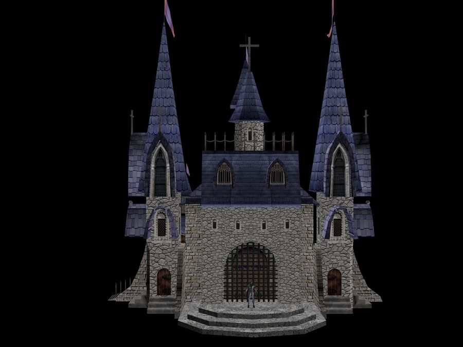 Fantasy Castle royalty-free 3d model - Preview no. 4