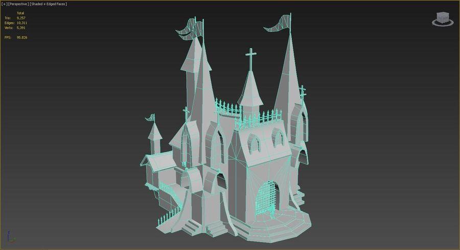 Fantasy Castle royalty-free 3d model - Preview no. 3