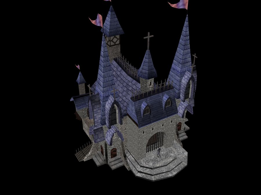 Fantasy Castle royalty-free 3d model - Preview no. 1