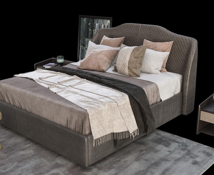 Conjunto de muebles de dormitorio royalty-free modelo 3d - Preview no. 2