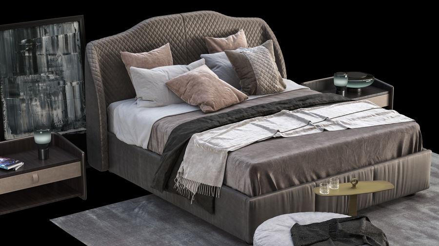 Conjunto de muebles de dormitorio royalty-free modelo 3d - Preview no. 5