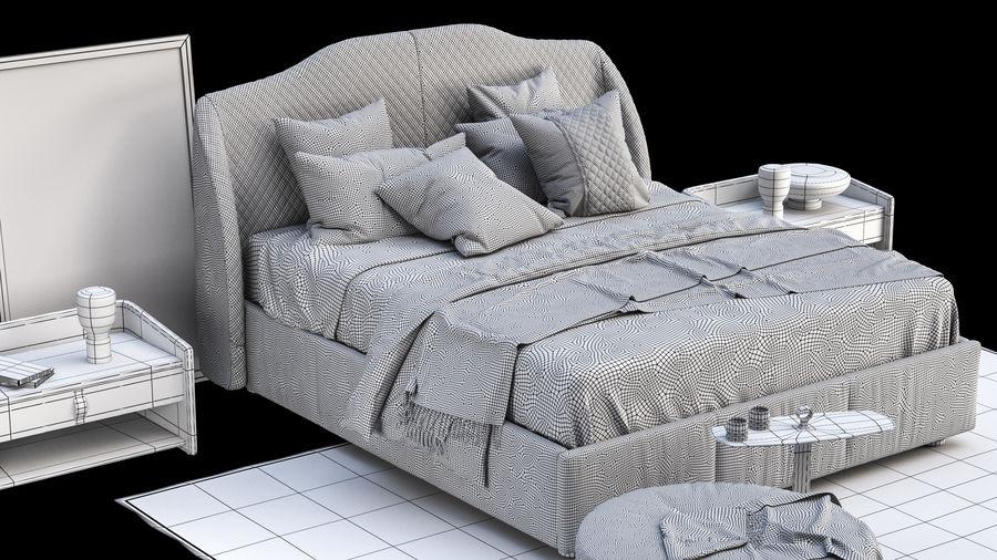 Conjunto de muebles de dormitorio royalty-free modelo 3d - Preview no. 8
