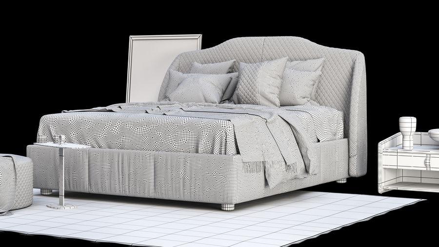 Conjunto de muebles de dormitorio royalty-free modelo 3d - Preview no. 9