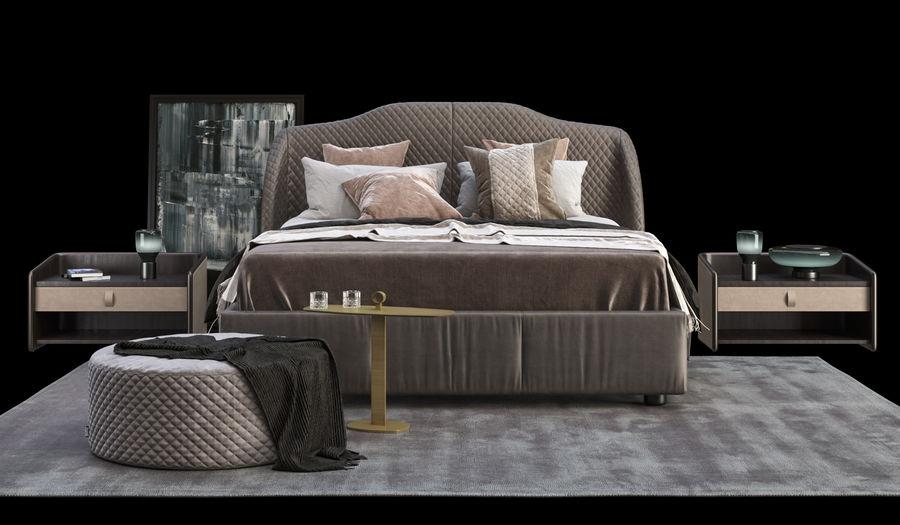 Conjunto de muebles de dormitorio royalty-free modelo 3d - Preview no. 1