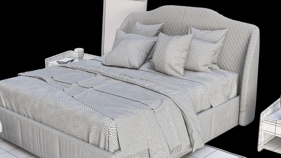 Conjunto de muebles de dormitorio royalty-free modelo 3d - Preview no. 7