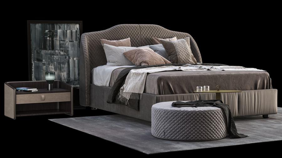 Conjunto de muebles de dormitorio royalty-free modelo 3d - Preview no. 3