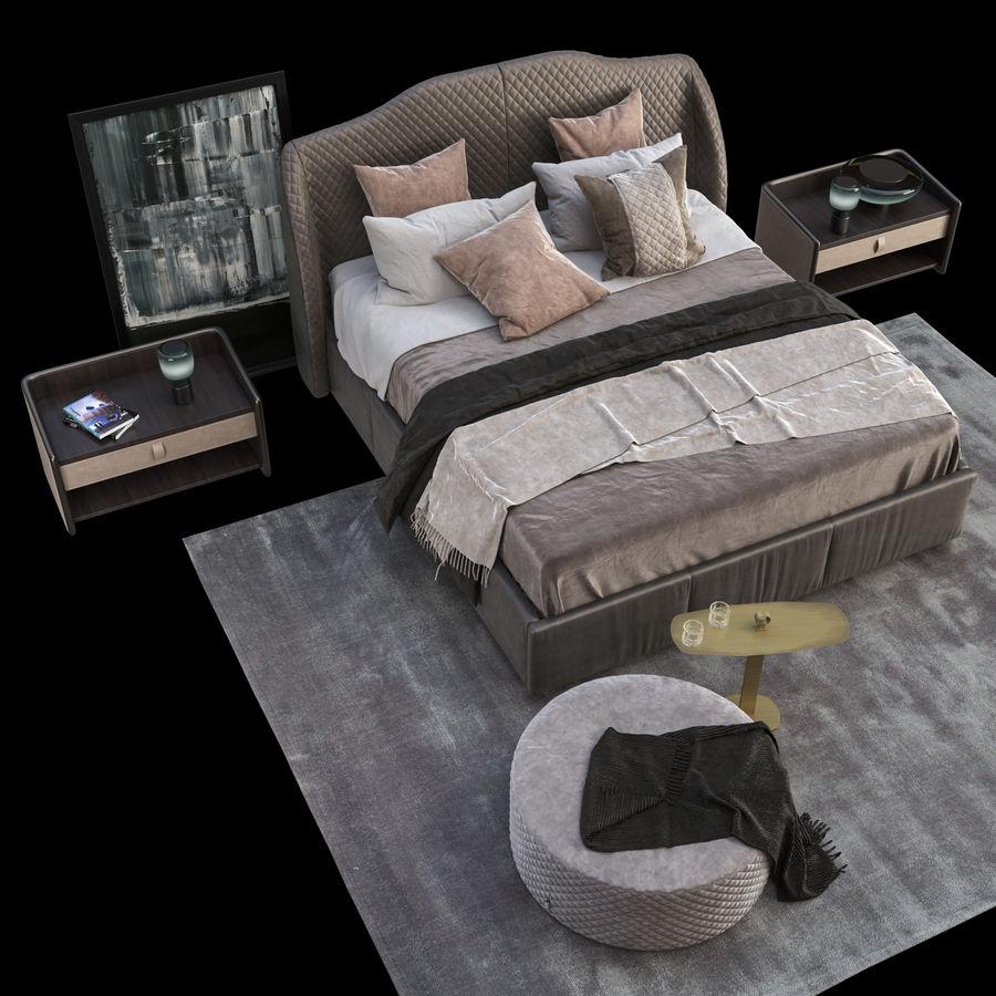 Conjunto de muebles de dormitorio royalty-free modelo 3d - Preview no. 4