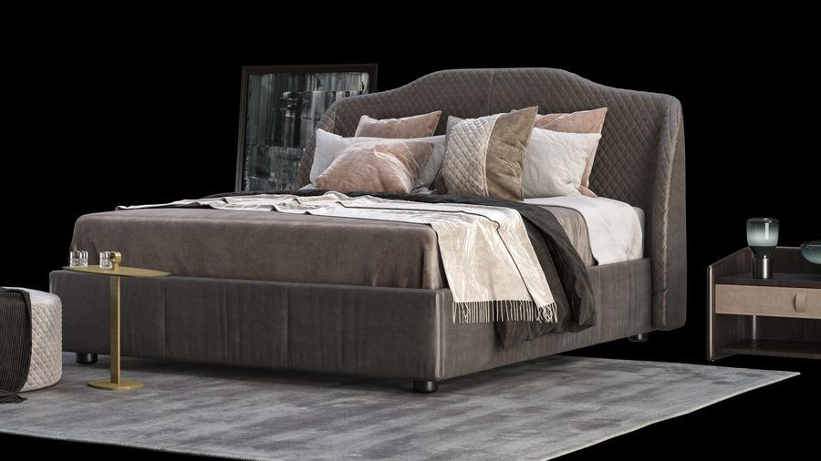 Conjunto de muebles de dormitorio royalty-free modelo 3d - Preview no. 6