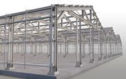 Construção de aço 3d model