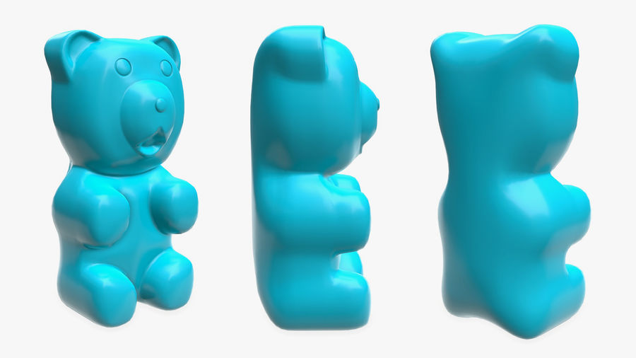 Gummy bear royalty-free 3d model - Preview no. 2